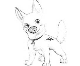 bolt disney free colouring pages