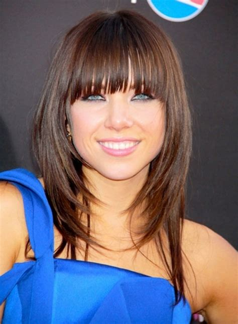 choppy bobs with fringes long layered bob hairstyles with fringe hairstyle ideas