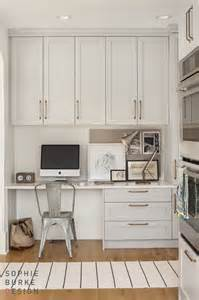 Kitchen Office Cabinets by Kitchen Desk Contemporary Kitchen Burke Design