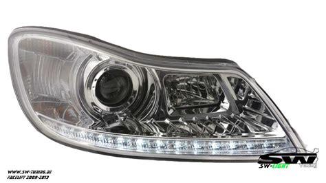 led len kaufen sw light headlights skoda octavia ii 1z facelift 09 13 led