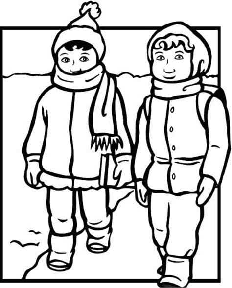 winter weather clothes coloring pages coloring pages
