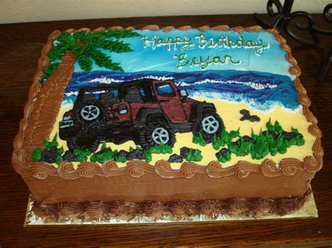 birthday jeep cake bryans birthday jeep cakecentral com