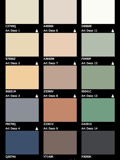 art deco colors art deco paint colours our art deco house pinterest