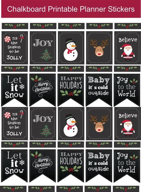 printable christmas planner stickers printable planner planners and life planner on pinterest