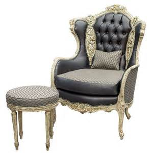 Wingback Chair Recliner Design Ideas Vintage Italian Carved Fireside Wing Chair With Footstool At 1stdibs