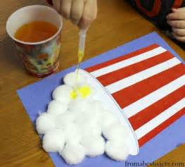 fine motor popcorn circus craft for kids from abcs to acts
