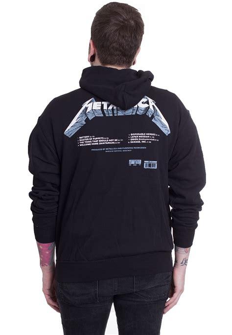 metallica hoodie metallica master of puppets tracks hoodie official