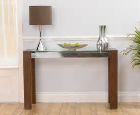 Dark Oak Sideboard Rochelle Walnut Amp Glass Console Table Oak Furniture