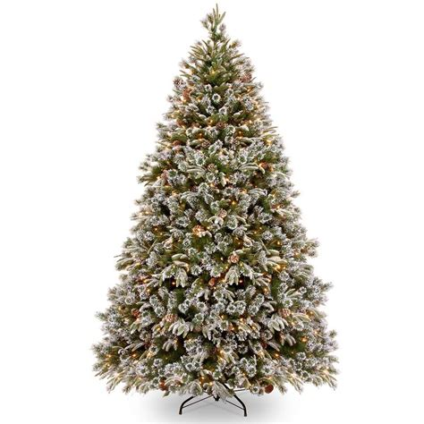 12ft pre lit green snow effect liberty pine artificial