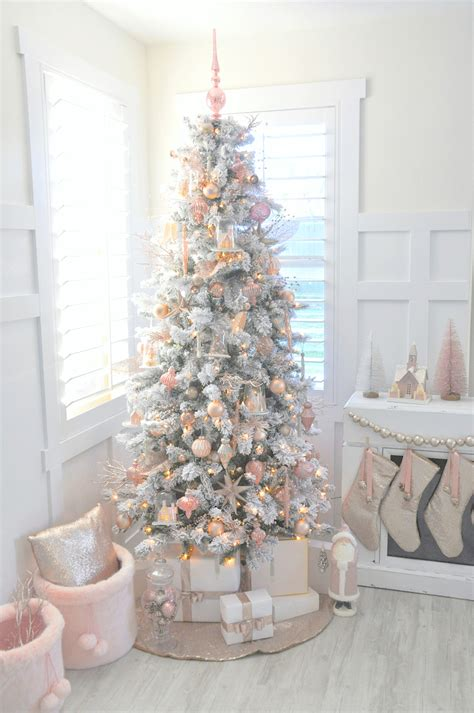 rose gold christmas lights kara s party ideas blush pink vintage inspired tree