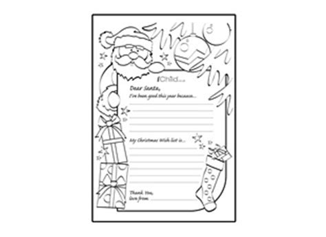 Letter To Santa Template Ichild Santa Wish List Template