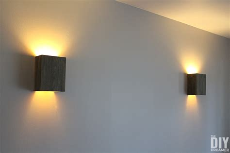 How To Make A Sconce Light Fixture How To Build Wall Light Fixtures Diy Wood Wall Sconces