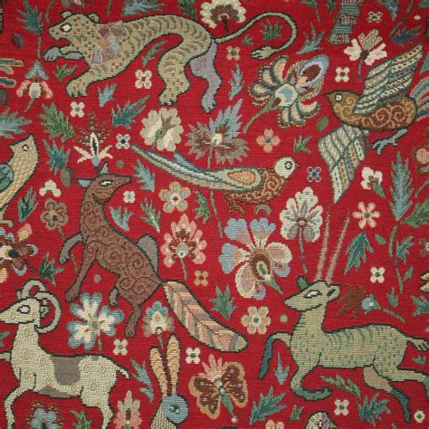 tapestry upholstery fabric uk bangalore tapestry red curtain fabric closs hamblin