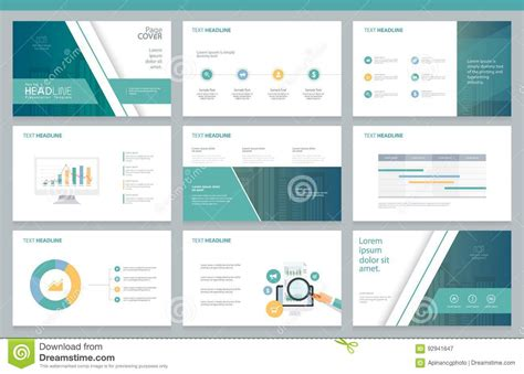 page layout for presentation business presentation design template and page layout for