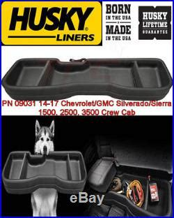 2014 gmc cab seat storage husky seat storage box 2014 2018 chevy silverado gmc