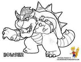 bowser coloring pages print coloring
