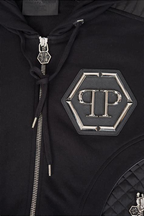 philipp plein air zip hoodie black