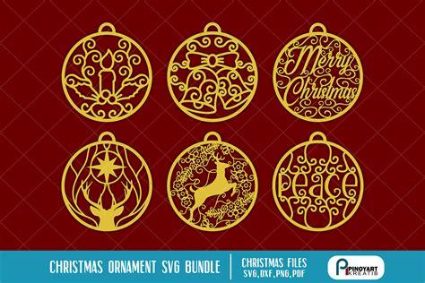 christmas ornaments svg bundle digitanza