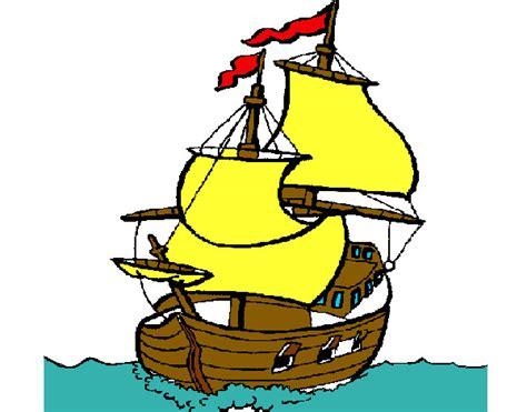 dibujos de cristobal colon y sus barcos dibujos de los barcos de colon imagui