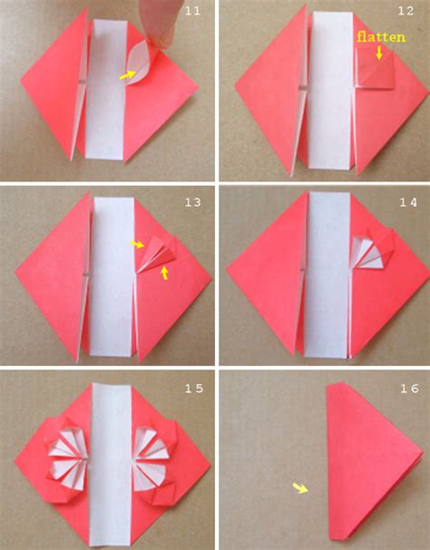 How To Fold Paper Hearts Step By Step - the a blast origami letters and rings