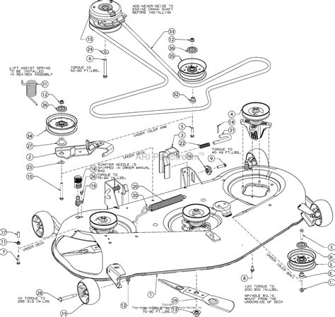 troy bilt belt diagram troy bilt 17arcacq011 mustang xp 50 2016 parts diagram