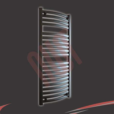 Radiator Towel Rack Quot Ellipse Quot Designer Heated Chrome Black Towel Rails