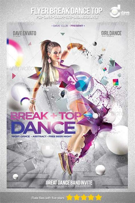templates for dance flyers free psd template file page 45 newdesignfile com