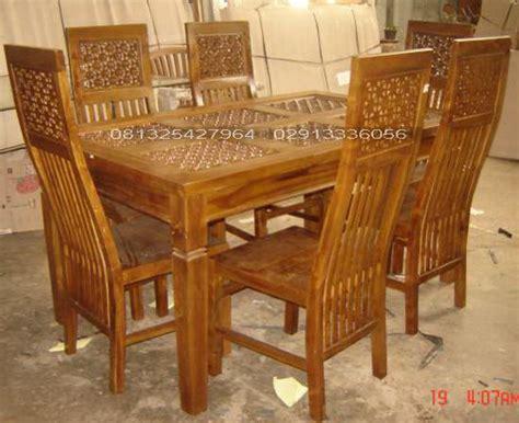 Gambar Kursi Kayu 100 set meja makan jati minimalis set meja makan kayu jati solid jual furniture jepara