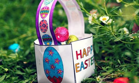 How To Make An Easter Egg Out Of Paper - easter egg basket kidspot