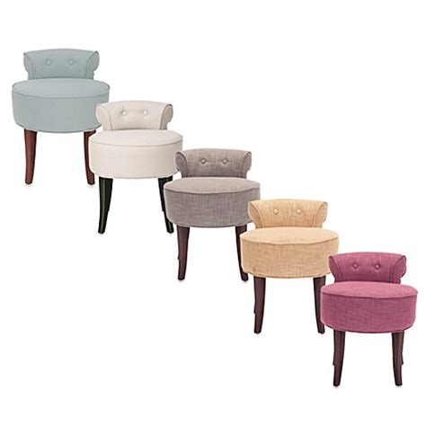 vanity bench or stool safavieh georgia vanity stool www bedbathandbeyond com