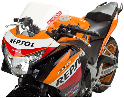 Knalpot Racing Honda Cbr 250 R Scorpion Sark Pelangi Fullsystem hotbodies ss windscreen honda cbr250r 2011 2013 cycle gear