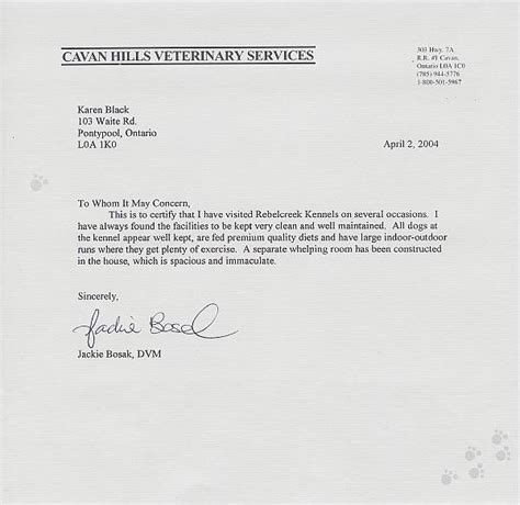 Letter Of Recommendation Veterinarian golden retriever letters of reference