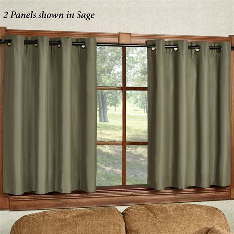 short grommet curtains paramount short thermal grommet curtain panel