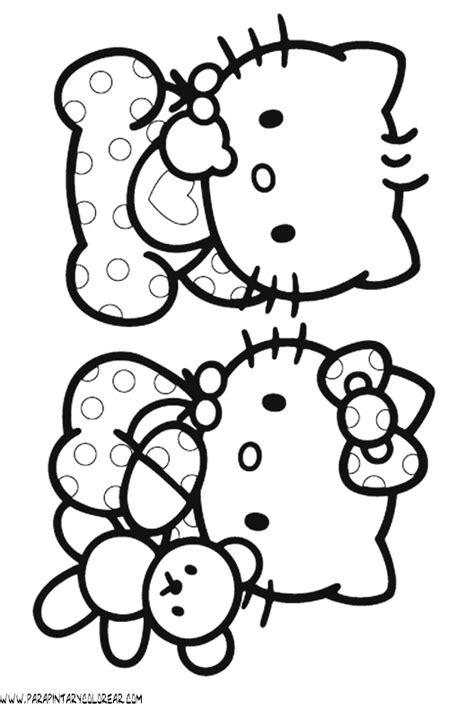 imagenes hello kitty para pintar dibujos para colorear de hello kitty 036