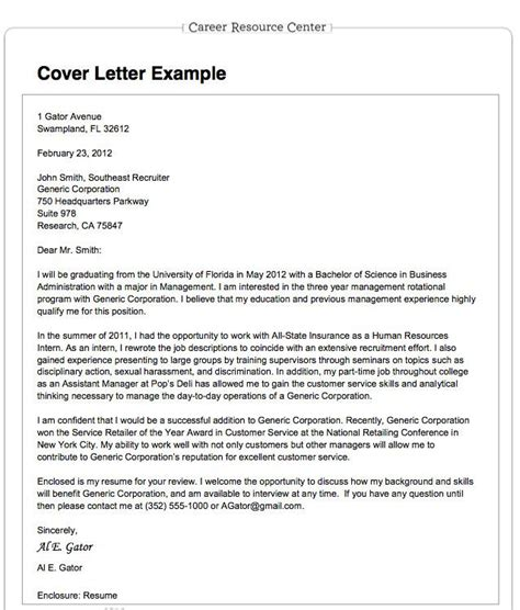 Cover Letter Exle Nature 25 Best Ideas About Cover Letter For On Resume Search Tips And