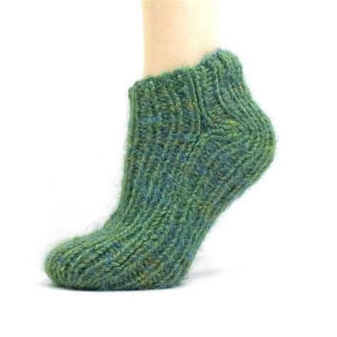 knitted slippers pattern with two needles easiest sock two needles i did 22 stitches k1p1