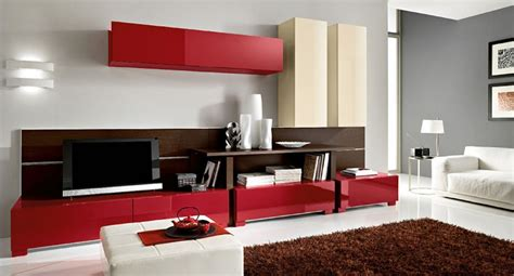 Modern Living Room Colors | modern living room with red color d s furniture