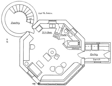 cool floor plan octagon house plan earthbag house plans