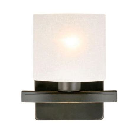 hton bay ettrick 1 light rubbed bronze wall sconce