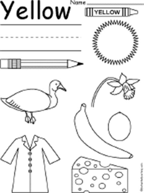 coloring pages yellow things color worksheets at enchantedlearning com