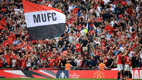Manchester United Fans united fans enjoyed wembley but many fa cup