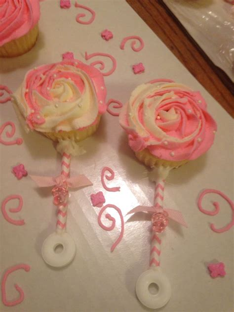 Cupcake Decorating Baby Shower by Baby Shower Cupcake Cakes Rattle Www Pixshark