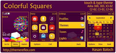 themes reflex nokia c2 02 colorful squares theme for nokia asha 303 300 x3 02 c2