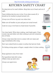 the gallery for gt kitchen safety for kids worksheets