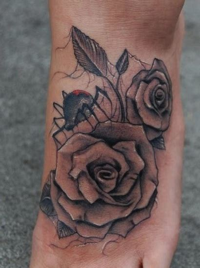 foot rose tattoos 3d roses foot by big gus hesperia