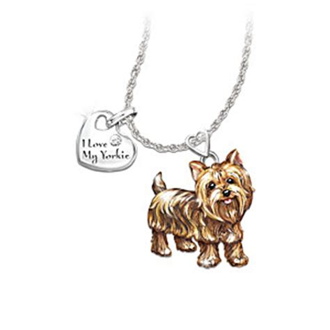 yorkie pendant playful pup pendant necklace yorkie