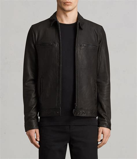 Just Say No To Sleeve Jackets by Allsaints Uk Mens Lark Leather Jacket Black