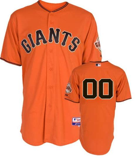 sf fullset jersey sf giants authentic home orange baseball jersey by