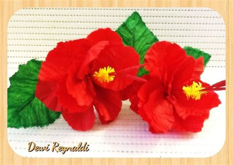 How To Make Hawaiian Paper Flowers - diy how to make hibiscus paper flower for room gift