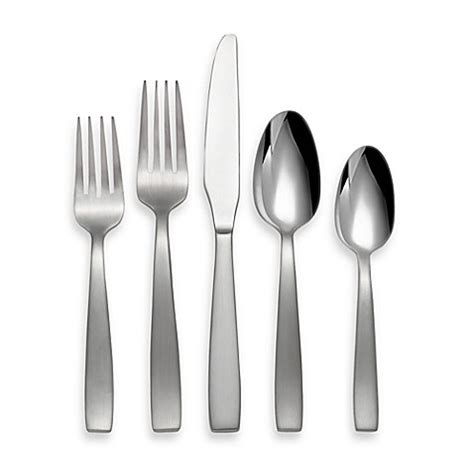 bed bath and beyond silverware oneida 174 everdine 45 piece stainless steel flatware set